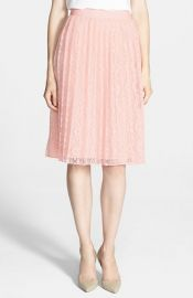 Chelsea28 Pleated Lace Skirt at Nordstrom