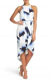 Chelsea28 Print Stretch Midi Dress at Nordstrom
