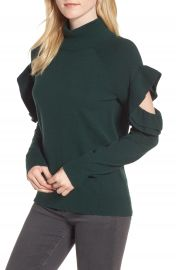 Chelsea28 Ruffle Sleeve Sweater at Nordstrom