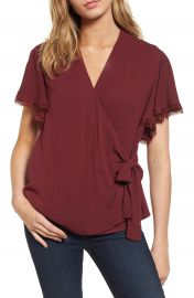 Chelsea28 Ruffle Wrap Blouse at Nordstrom