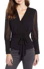Chelsea28 Tie Waist Blouse at Nordstrom