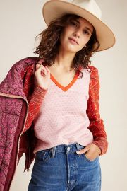 Cherie Puff-Sleeved Sweater at Anthropologie