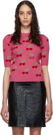 Cherries Short Sleeve Sweater by Gucci at Ssense