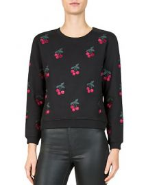 Cherry Embroidered Sweatshirt at Bloomingdales