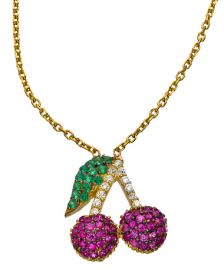 Cherry Necklace  at Max & Chloe