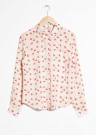 Cherry Print Button Down at & Other Stories