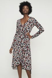 Cherry Print Wrap Dress by Long Tall Sally at Long Tall Sally