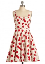 Cherry print dress at Modcloth at Modcloth