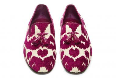 Chesterfield Viscose and Cotton Spotted Tassel Jacquard Evening Slipper at Tom Ford