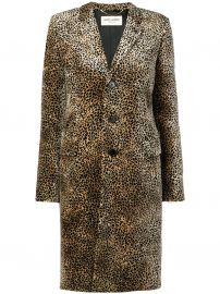 Chesterfield leopard-print coat at Farfetch
