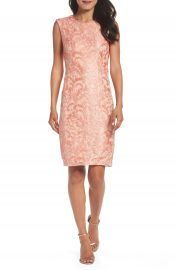 Chetta B Sequin Lace Sheath Dress at Nordstrom