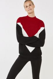 Chevron Color Block Sweater by Long Tall Sally at Long Tall Sally