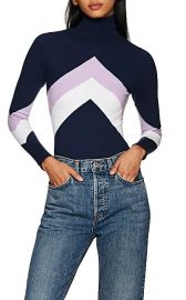 Chevron Cotton-Blend Turtleneck Sweater at Barneys