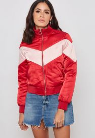 Chevron Padded Bomber Jacket at Forever 21