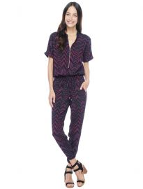 Chevron Zip Jumpsuit at Splendid