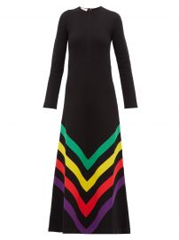 Chevron-striped silk-blend jersey gown gucci at Matches