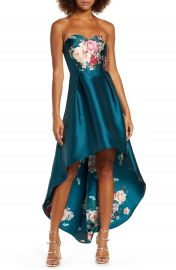 Chi Chi London Brie Strapless High Low Gown   Nordstrom at Nordstrom