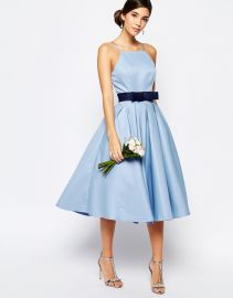 Chi Chi London High Neck Midi Prom Dress with Full Skirt at Asos