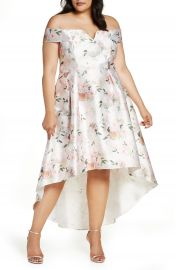 Chi Chi London Meera Off the Shoulder High Low Dress  Plus Size    Nordstrom at Nordstrom