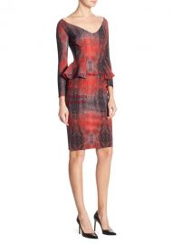 Chiara Boni La Petite Robe - Three-Quarter Sleeve Peplum Dress at Saks Fifth Avenue