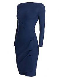 Chiara Boni La Petite Robe - Cassandre Wrap Effect Boatneck Dress at Saks Fifth Avenue