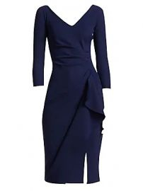 Chiara Boni La Petite Robe - Kloty Side Ruffle Dress at Saks Fifth Avenue