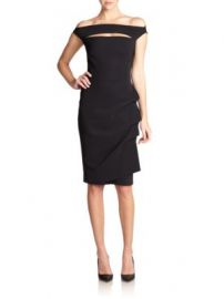 Chiara Boni La Petite Robe - Melania Short Off-The-Shoulder Dress at Saks Fifth Avenue