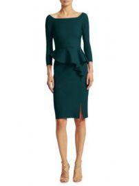 Chiara Boni La Petite Robe - Peplum Knee-Length Sheath Dress at Saks Fifth Avenue