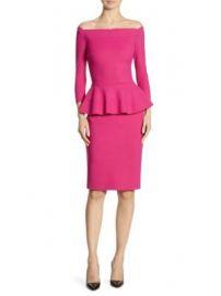 Chiara Boni La Petite Robe - Sina Peplum Sheath Off-The-Shoulder Dress at Saks Fifth Avenue