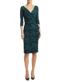 Chiara Boni La Petite Robe - Three Quarter Sleeve Wrap Dress at Saks Fifth Avenue