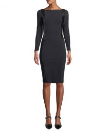 Chiara Boni La Petite Robe Accursia Body-Con Dress w  Pleather Panels at Neiman Marcus