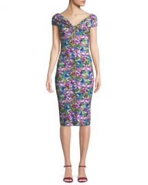 Chiara Boni La Petite Robe Marycarmen Floral Short-Sleeve Dress at Neiman Marcus