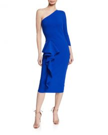 Chiara Boni La Petite Robe One-Shoulder Asymmetric-Ruffle Cocktail Dress at Neiman Marcus