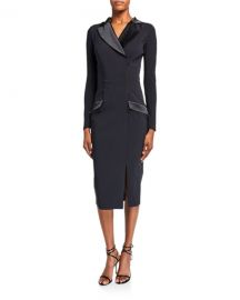 Chiara Boni La Petite Robe Pinstripe Tuxedo Sheath Dress at Neiman Marcus