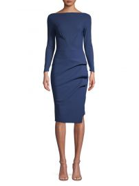 Chiara Boni La Petite Robe Pleated Long Sleeve Sheath Dress at Lord & Taylor