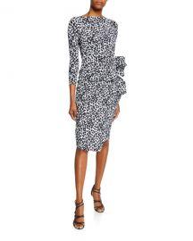 Chiara Boni La Petite Robe Zelma Side-Shirred Printed Dress at Neiman Marcus