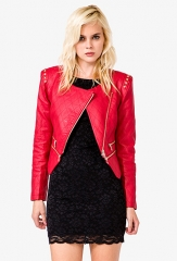 Chic Quilted Bomber Jacket at Forever 21
