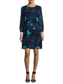 Chiffon Floral Shift Dress by Karl Lagerfeld at Gilt at Gilt