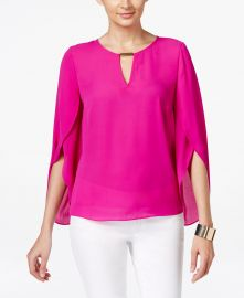 Chiffon Keyhole Blouse by INC International Concepts at Macys