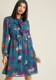 Chiffon Tie Neck Shirt Dress at ModCloth