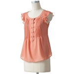 Chiffon bow blouse by LC Lauren Conrad at Kohls
