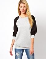 Chiffon sleeve sweater at ASOS at Asos