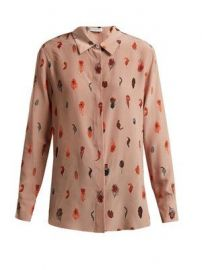 Chika peacock feather-Print Silk Blouse by Altuzarra at Matches