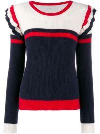 Chinti   Parker colour-block Frill Sweater - Farfetch at Farfetch