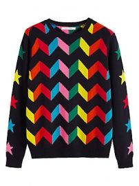 Chinti and Parker - Rainbow Chevron Cashmere Sweater at Saks Fifth Avenue