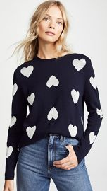 Chinti and Parker Metallic Heart Sweater at Shopbop