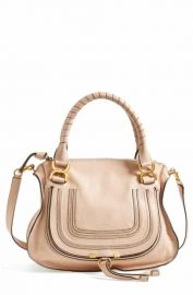 Chlo     x27 Medium Marcie  x27  Leather Satchel   Nordstrom at Nordstrom