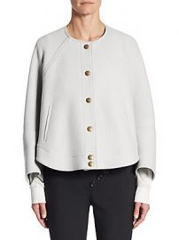 Chlo   - Button Front Cropped Jacket at Saks Fifth Avenue