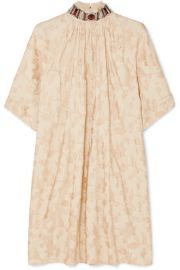 Chlo   - Embellished jacquard mini dress at Net A Porter