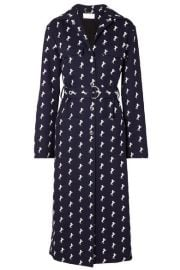 Chlo   - Embroidered wool-twill trench coat at Net A Porter